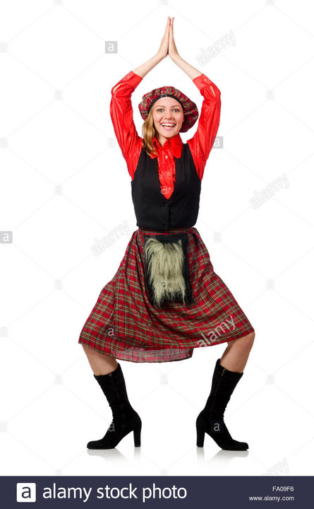 funny-woman-in-scottish-clothing-on-white-FA09F6.jpg